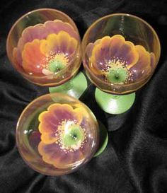 FLOWER GLASSES - RED Pansy Wine Glass - The Painted Flower (Powered by CubeCart) - Red Pansy Wine Glass