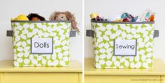DIY Fabric Storage Bins- this is what I am looking for!