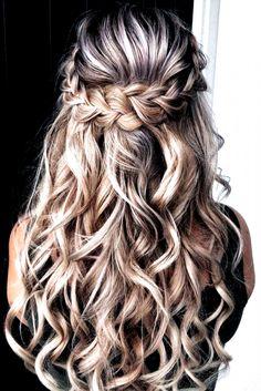 Wedding Hairstyles Half Up Half Down, Wedding Hair Down, Wedding Hairstyles For Long Hair, Half Updo, Gown Wedding, Lace Wedding, Wedding Cakes, Wedding Rings, Wedding Bride