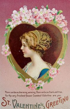 St. Valentine Greeting Postcard