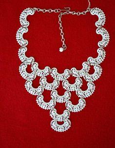 Vendome NOS Filigree Enamel Bib Necklace High End Coro Vintage