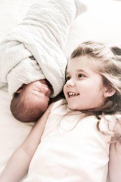Newborn sibling photography. Ashley White Photography.