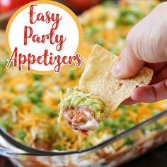 Easy Party Appetizers - appetizer recipes and starter recipes for a crowd.  Crowd pleaser party appetizer ideas