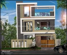 CALL OR WHATSAPP ME :- +919910284217 mail :- asif10760@gmail.com House Wall Design, 3 Storey House Design, Bungalow House Design, House Front Design, Small House Design, Modern Exterior House Designs, Latest House Designs, Modern House Design, Design Entrée
