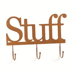 From the Embellish Your Story collection of Demdaco, this Rustic Stuff Wall Word with Hooks is the perfect base for a story to be told. Fill this word with magnets and cherished photos to create a unique story. celebrate the seasons and share your special moments. Add your favorite photos for a personal touch, then change it again and again!