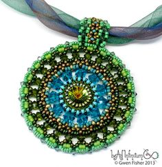 gwenbeads: Color Medallion No. 5 Green