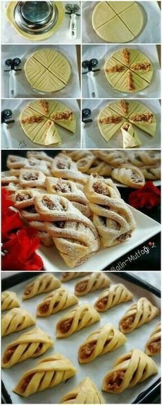 Pastry Recipes, Baking Recipes, Cookie Recipes, Dessert Recipes, Pastry Design, Bread Shaping, Good Food, Yummy Food, Bread And Pastries