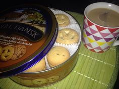 """""""While waiting for supper , I am enjoying a cuppa with some that I got from the Bad Room Ideas, Baking Ingredients, Cookie Dough, Waiting, Social Media, Twitter, Desserts, Food, Tailgate Desserts"""
