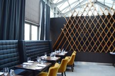 Restaurant interior design inspiration bycocoon.com | kitchen design | hotel design | project design | renovations | Dutch Designer Brand COCOON | Jump restaurant, Toronto