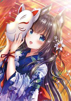 Kawaii Gal using Yukita Anime Neko, Manga Kawaii, Chica Anime Manga, Art Anime, Kawaii Anime Girl, Anime Artwork, Anime Art Girl, Anime Girls, Kawaii Art