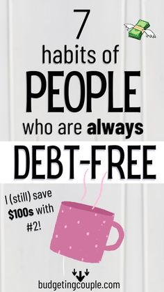 Wondering what to do about that debt? Don't let it crush you. Learn these 7 habits of debt-free people so you can finally get ahead.