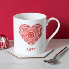 One for Tunnock's Lovers and a great Valentines gift for a man or woman! This modern and fun Scottish mug by Gillian Kyle features her Love Tunnock's Teacake Wrapper heart design on a quality fine bone china cup in classic red and white. Tunnocks Tea Cakes, Coffee Cups, Tea Cups, Glasgow, Edinburgh, Christmas Shopping, Christmas Gifts, Funny Coffee Mugs, Mug Cup