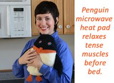 Penguin microwave heating pad for bed