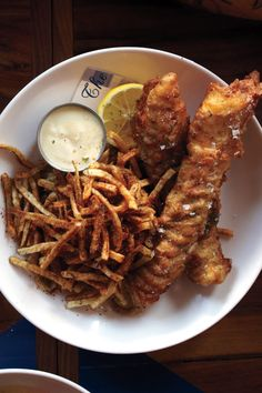 Fish and Chips with Malt Vinegar Mayonnaise