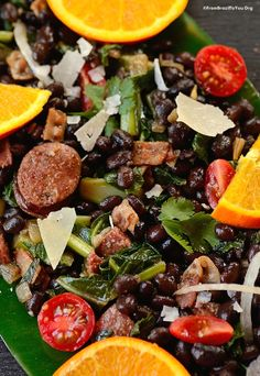 Quick Feijoada Salad -- Naturally GF and loaded with proteins. It can be served warm or chilled, as a side or main dish | From Brazil To You