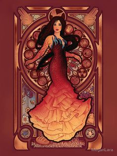 Art Nouveau Katniss Everdeen