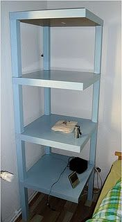 Maybe for the closet cubbies? IKEA hack - corner shelves from LACK side table