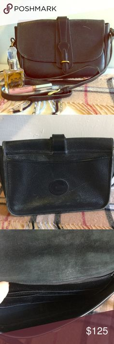 Dooney & Bourke Leather Crossbody Beautiful Authentic D&B.  Black all-weather leather with gold hardware and adjustable AND removable straps.  This is a vintage bag with some signs of wear on the leather- as pictured.    Fast Shipping📦✅ 5 star rated ⭐️⭐️⭐️⭐️⭐️ Questions❓Please ask❗️ Thank you 🌸💕 Dooney & Bourke Bags Crossbody Bags