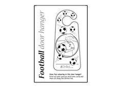 Let your child print off and colour in our football door hanger design. This fun printable door hanger template will make a perfect theme for your child's bedroom! Please ensure ALL cutting out is performed with an adult!