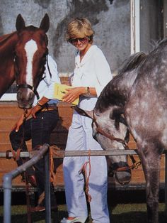 July 29, 1983: Princess Diana watching Prince Charles play polo at Cowdray Park, Midhurst, West Sussex.