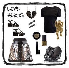 """""""Love hurts. Sometimes the prince turns back into a frog."""" by bimbosavant ❤ liked on Polyvore featuring Roberto Cavalli, Stila, NARS Cosmetics, Bling Jewelry, Rebecca Minkoff, Marc Jacobs and Gucci"""