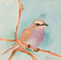 """""""Birdie"""", Available, 300mm x 300mm, oil on canvas SOLD"""