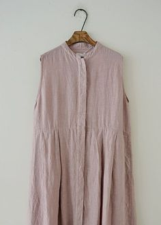 Honnete 단추 린넨원피스(핑크)