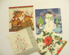 Decoupage napkin Christmas Set  5 X 2 Christmas paper napkins (tissue paper napkins, 2ply) for your crafts projects.   You can use them to decorate items such as wood objects, picture frames, vases, wooden trays, glass and metal objects and so much more.  Dimensions: 33 x 33 cm (13 x 13) Material: Paper napkin  You will get 10 napkins.  If you have any questions, please contact me. Thank you for looking.