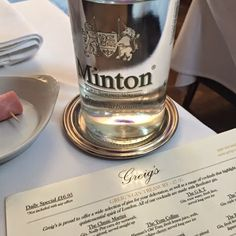 Sparkly Sparkling Waters : Lunchies at Greig's - middle of Mayfair - Minton s...
