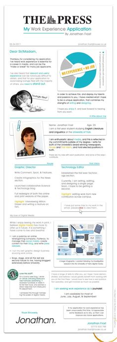 Infographic Resume Template For Graphic  Infographic Resume