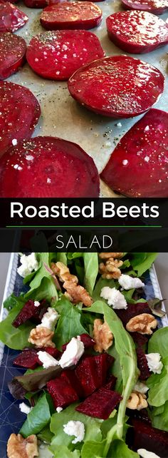 Beets are loaded with health benefits and are delicious roasted! Here's how to roast beets & then use them as a salad topper along with toasted walnuts and goat cheese. | Clearly Organic Nutritionist Corner