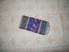 Quilted eyeglass case in Lavender and green by ExpressionQuilts, $4.99