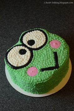 i heart baking!: mint chocolate keroppi cake