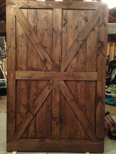 At RusticRoo Designs we handcraft custom barn doors made exactly to your specifications. Choose your doors exact size style and finish & Living room sliding barn door. Double Z barn door with Rustica ...