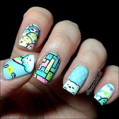 Kawaii Nails Inspired by KiraKira Doodles