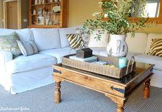 DIY Slipcovered Sectional Sofa