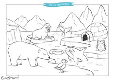 Home Decorating Style 2020 for Coloriage Pole Nord, you can see Coloriage Pole Nord and more pictures for Home Interior Designing 2020 at Coloriage Kids. Winter Szenen, Winter Kids, Bear Coloring Pages, Coloring Books, Polar Bear Coloring Page, Drawing For Kids, Art For Kids, Sport Themed Crafts, Polar Bear Drawing