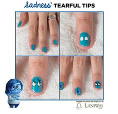 Inside Out Nail Art Designs from Disney