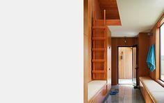 Attic Loft Ladder Bed Design Ideas, Pictures, Remodel and Decor Attic Doors, Garage Attic, Attic House, Attic Closet, Attic Playroom, Attic Library, Attic Office, Attic Window, Attic Ladder