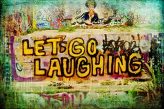 Let's Go Laughing - Hope Gallery (artist unknown) - Austin, Texas Texas And Oklahoma, Austin Texas, Dallas Shopping, Wooden Window Frames, Large Canvas, Lonely, Letting Go, Let It Be, Gallery