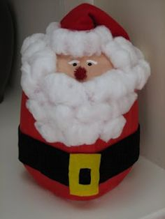 Ramblings of a Crazy Woman: Milk Jug Santa Christmas Activities, Christmas Fun, Holiday Fun, Christmas Mantles, Christmas Decorations, Holiday Ideas, Christmas Ornaments, Santa Crafts, Holiday Crafts