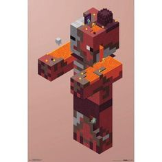 Trends International Minecraft Pigman Nether Wall Poster 22.375 inch x 34 inch, Multicolor