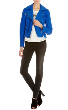 Karen Millen, Leather Jackets, Nautical, Fashion Outfits, Clothes For Women, Luxury, Lady, Coat, Jeans