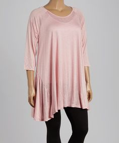 Look what I found on #zulily! Pink Sidetail Tunic - Plus by CANARI #zulilyfinds