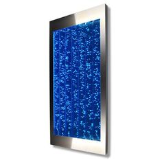 Vertical Bubble Panel Wall Mount LED Lighting Indoor Water Feature Fountain 45 - Fish Tank - Ideas of Fish Tank Fountains For Sale, Wall Fountains, Zen Office, Office Decor, Indoor Water Features, Bubble Wall, Zen Design, Indoor Fountain, Water Walls