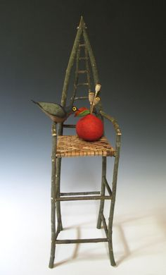 """""""Chair with Red Fruit"""" by Akira Studios"""