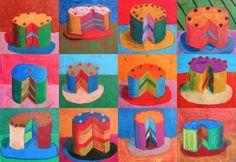 Cakes inspired by Wayne Thiebaud