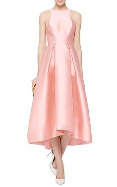 Silk Mikado Structured Midi Dress by Monique Lhuillier Now Available on Moda Operandi