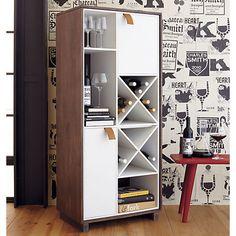 root wine cabinet in storage | CB2