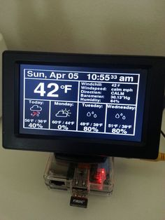 """This Instructable will show you how to build a really cool Raspberry Pi Internet-based weather station. Actually, to call this build a """"weather station"""". Pi Computer, Computer Projects, Electronics Projects, Computer Specs, Diy Tech, Cool Tech, Raspberry Projects, Learn Robotics, Rasberry Pi"""